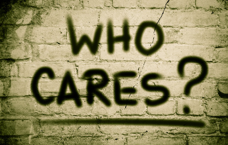 disinterest: Who Cares Concept