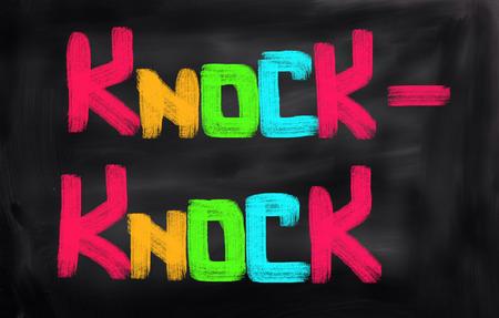 knock: Knock Knock Concept Stock Photo