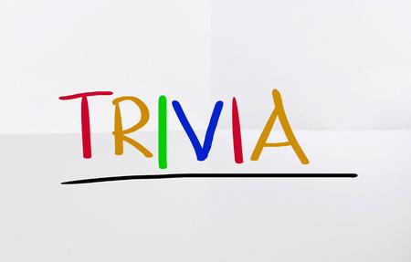 trivia: Trivia Concept