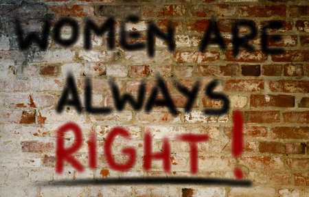 oppression: Women Are Always Right Concept