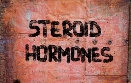 hormonas: Las hormonas esteroides Concept