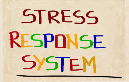 Stress Response System Concept 版權商用圖片