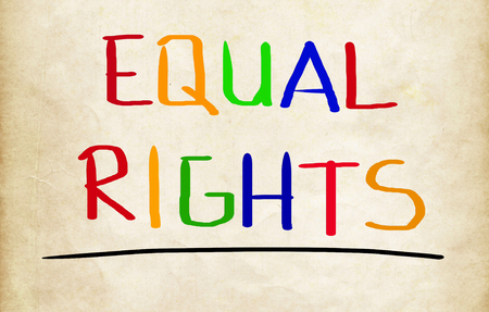 equal to: Equal Rights Concept Stock Photo
