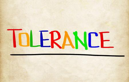 tolerancia: Concepto de tolerancia