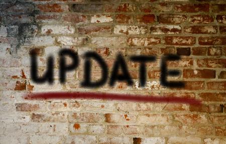 update: Update Concept Stock Photo