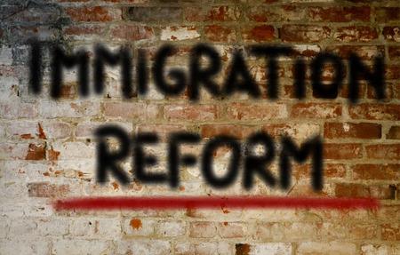 international crisis: Immigration Reform Concept