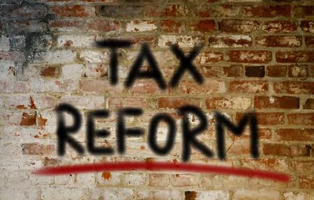 reform: Tax Reform Concept Stock Photo