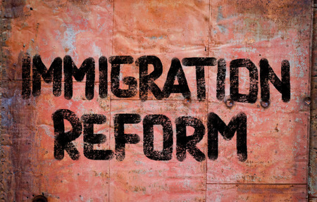 emigranti: Immigration Reform Concetto