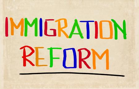 emigranti: Immigration Reform Concetto