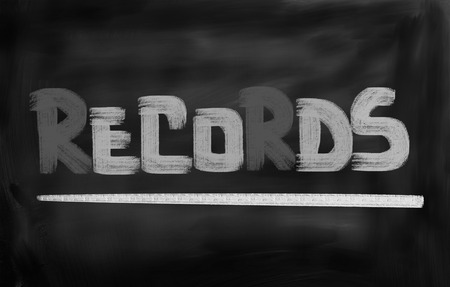 customer records: Records Concept Stock Photo