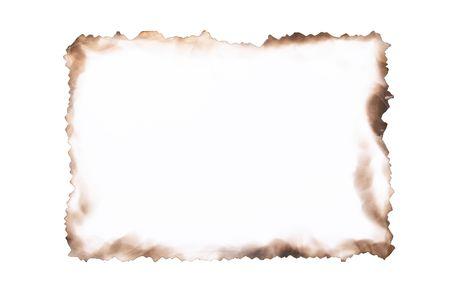white paper burned close-up Stock Photo