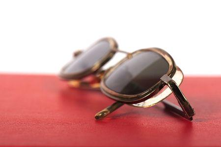 eyeglasses close-up  on white background  Stock Photo