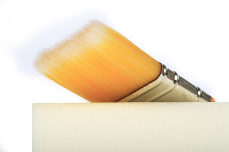 Tools for painting on a white background