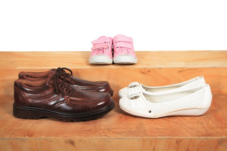 men, women and children Stock Photo