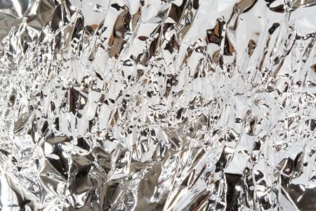 feature films: aluminum foil texture close up