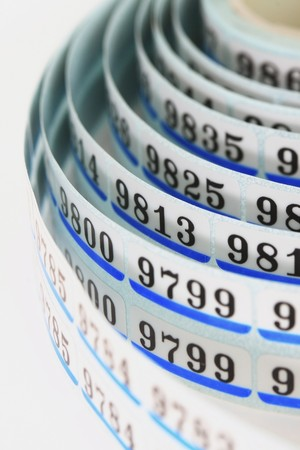 bar numbers in the near term Stock Photo