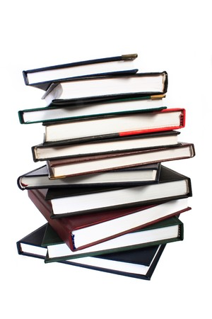 pile of books - isolated on white background Stock Photo