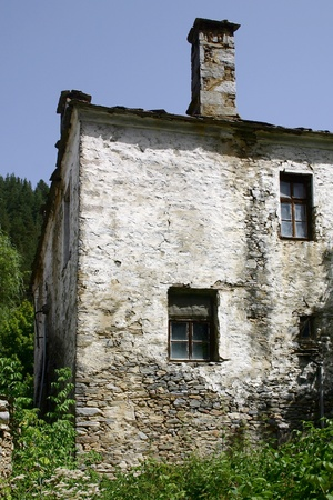 Old stone house in rural area Stock Photo