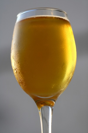 glass of cold beer close-up Stock Photo