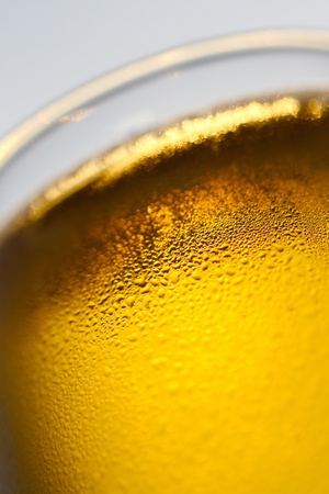glass of cold beer close-up photo