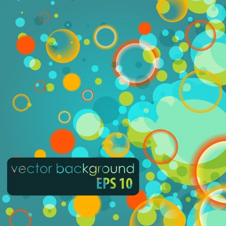abstract vector background with colored circles Stock Vector - 19745553