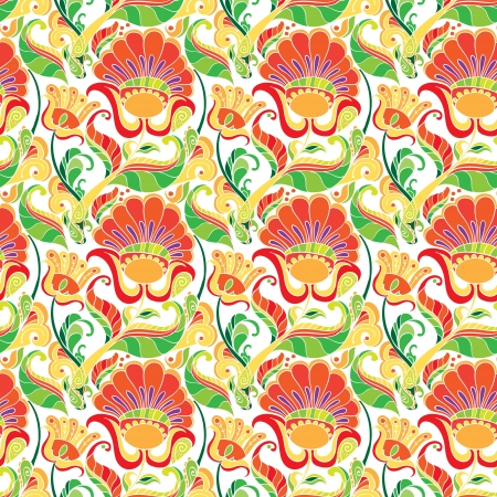 seamless floral pattern on white background Illustration