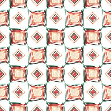 Seamless geometric pattern with color cubes and rombes Illustration