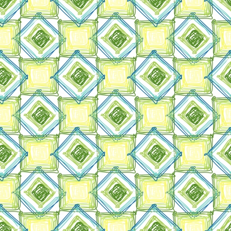 Seamless geometric pattern with cubes and rombes