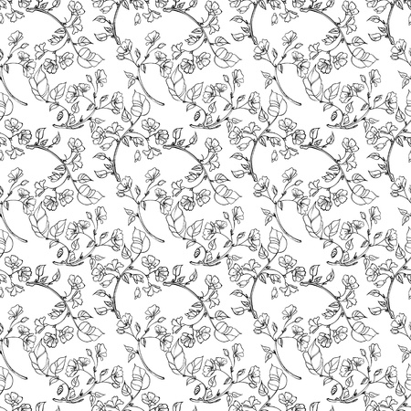 seamless pattern apple tree branch Stock Vector - 20917060