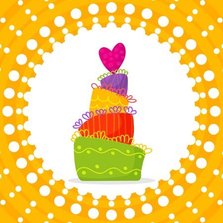 card doodle holiday cake