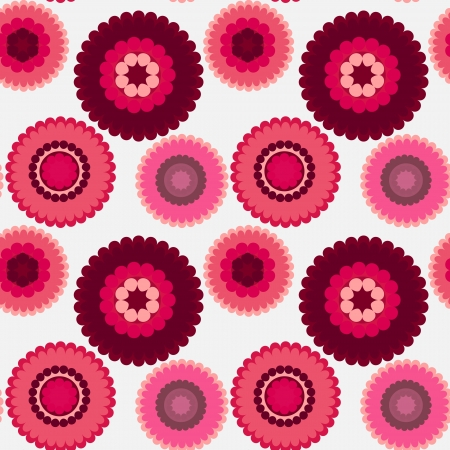 seamless retro floral background pink color