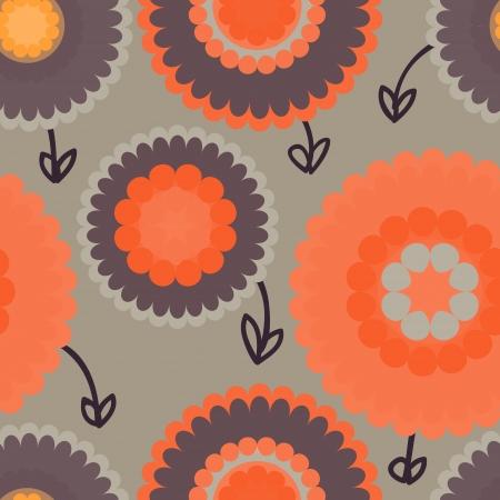 seamless retro floral background Illustration