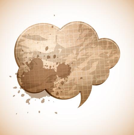 splash page: paper chat cloud illustration