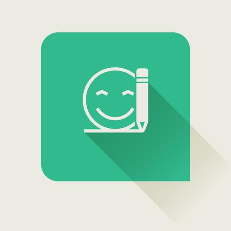 write customer feedback flat icon Illustration