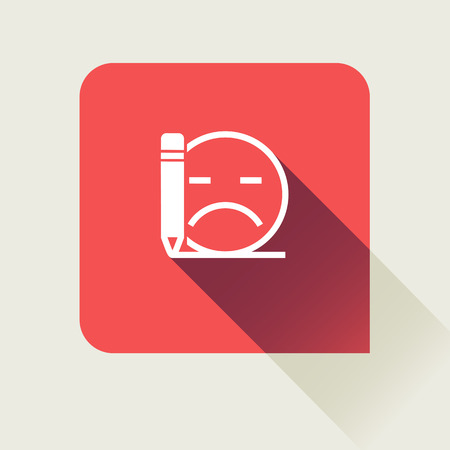 review: bad review flat vector icon