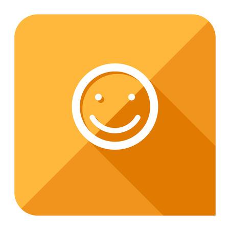feeling good: customer satisfaction or feedback icon. flat style.