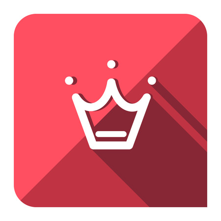 favorite crown icon flat style.