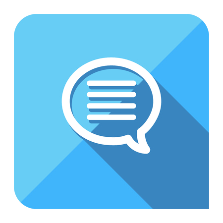 instant message chat icon. flat style.
