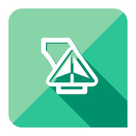 gps navigator arrow flat simple icon