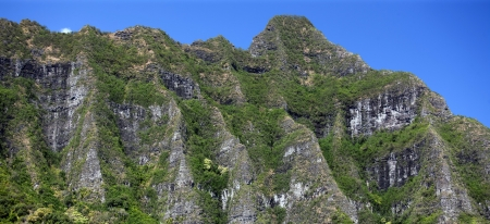 Detail Part of Ko olau Mountain Range, Oahu, Hawaii Stok Fotoğraf