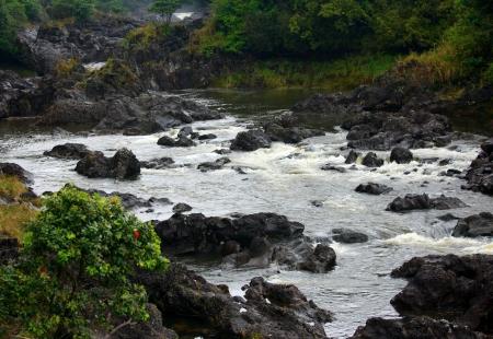 the rapids: Rapids Under Rainbow Falls, Big Island, Hawaii