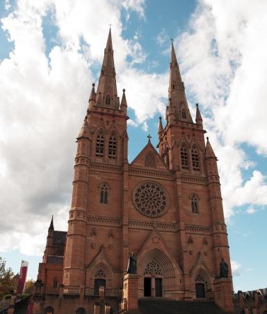 セント メアリーズ大聖堂、シドニー、オーストラリア 写真素材