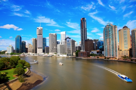river banks: Brisbane City From Story Bridge, Australia