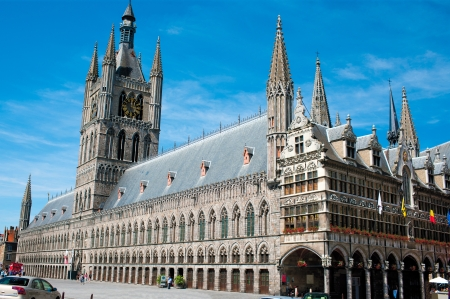 ypres: The Cloth Hall of Ypres, Belgium Stock Photo