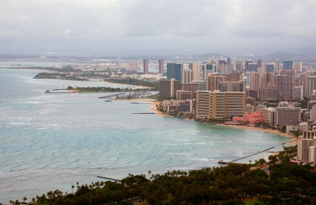 Waikiki and Honolulu from Diamond Head Stock Photo - 14574159