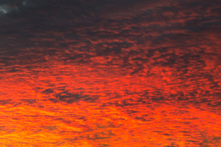 gloom: Fiery Sunset Stock Photo