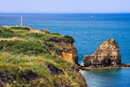 normandy: Pointe du Hoc, Normandy, France Stock Photo