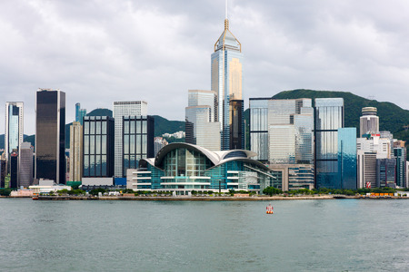 Hong Kong Island Skyline featuring the Convention and Exhibition Centre