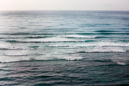 Gentle waves on Pacific ocean early in the morning