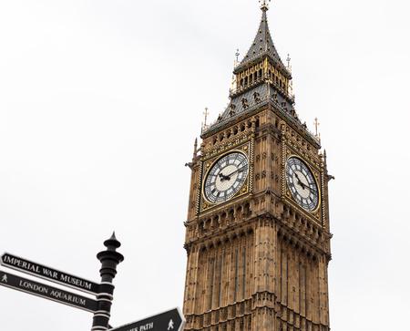 Big Ben Clock Tower, London, England Stock Photo